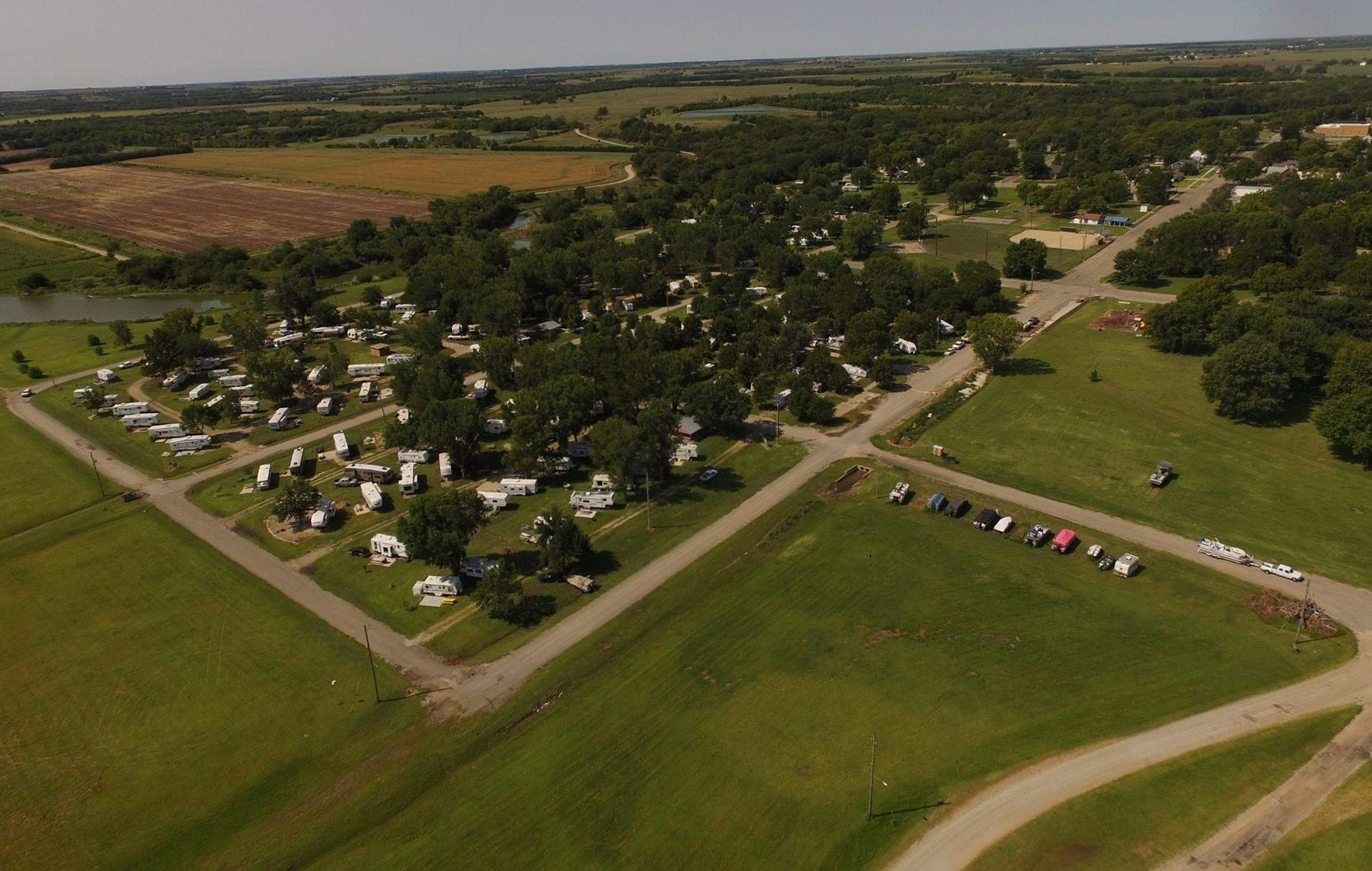 Aerial view of Clay County Park